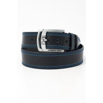 Синий ремень мужской джинс Johnny, 45 мм