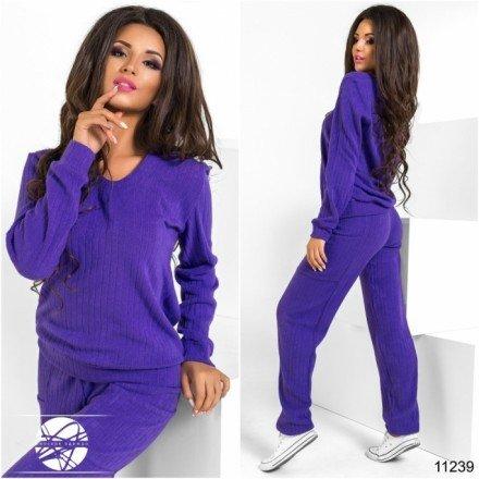 Костюм в рубчик Клер 11239 фиолетовый Lady Сharm