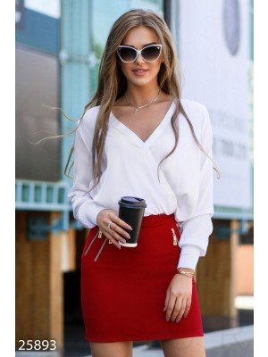 Элегантное женское боди-блуза Office outfits summer Тамара White