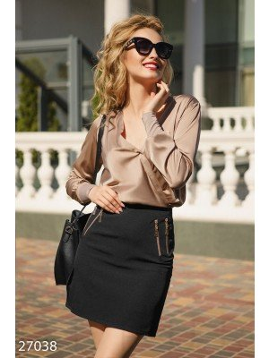 Однотонная юбка-мини Office outfits summer Эрика Black