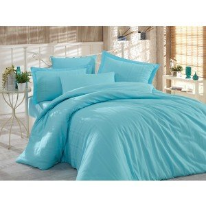 Семейный КПБ HOBBY Diamond Stripe Exclusive Sateen Aqua, 160х220 см