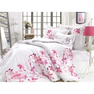 Евро КПБ HOBBY Lucia Exclusive Sateen Fuchsia, 200х220 см