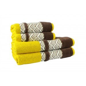 Полотенце HOBBY Nazende Yellow-Brown, 50х90 см